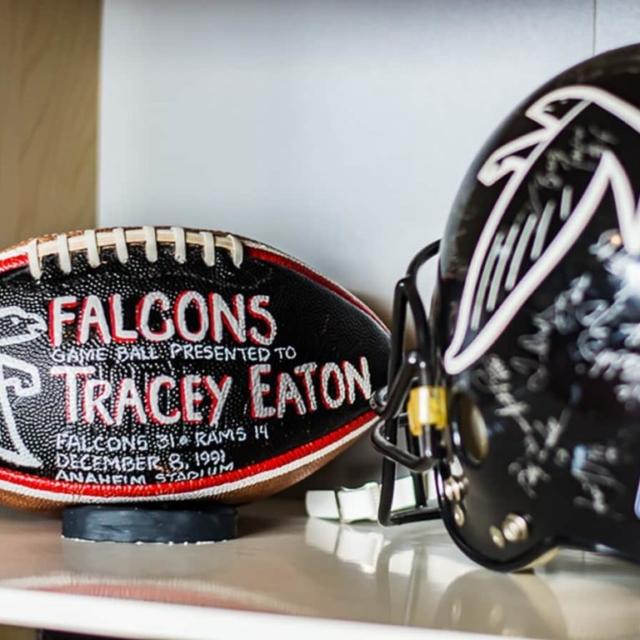 Tracey Eaton Football Helmet