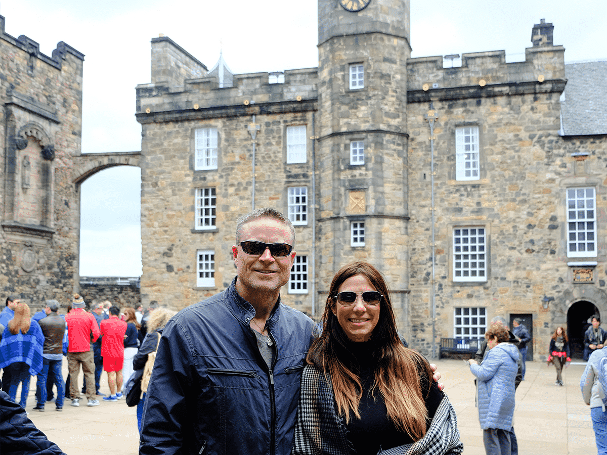 Tracey and Kimberly Eaton in Front of Castle
